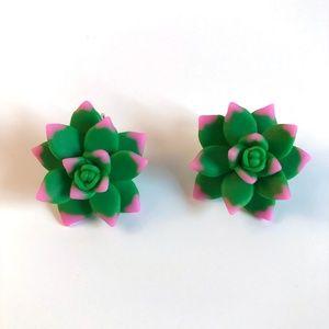 Jewelry - Succulent Earrings Boho Plant Lover Gift Go Green